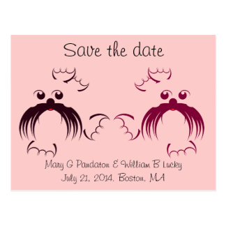 Loving seals Save the date Postcard