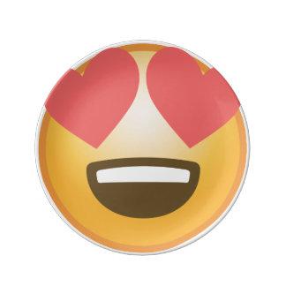 Loving Smile Emoji Porcelain Plate
