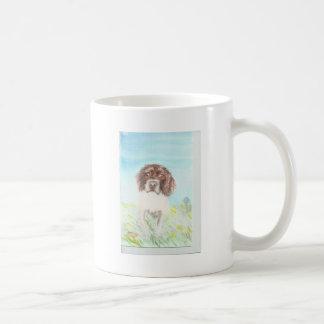loving spaniel watercolour coffee mug