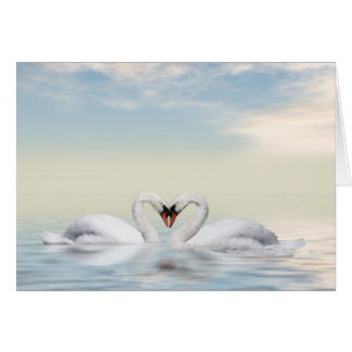 Loving swans card