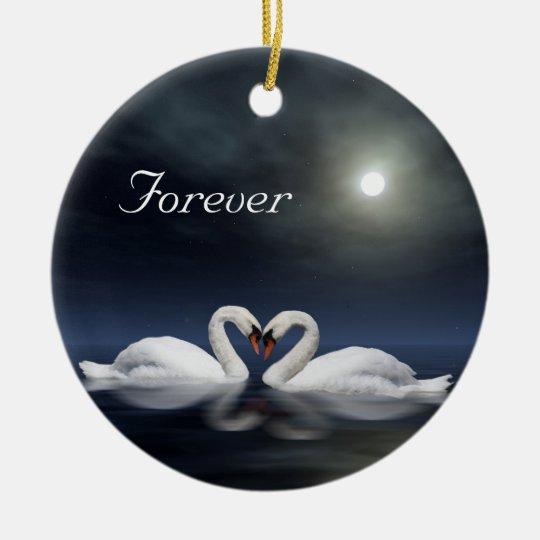 Loving swans christmas ornament