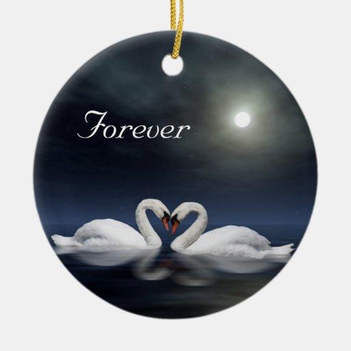 Loving swans ornament