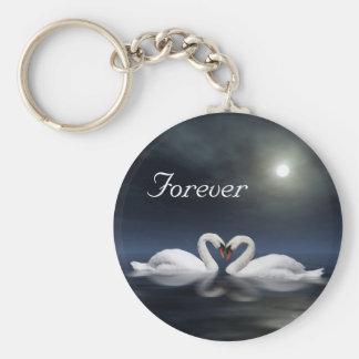 Loving swans keychains