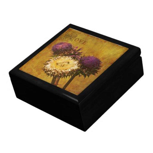 Loving Thistles - Decorative Box Trinket Box