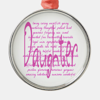 Loving Words for a Daughter Christmas Ornament