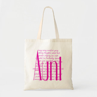 Loving Words for Aunt Tote Bag