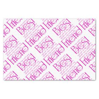 Loving Words for Best Friend Tissue Paper