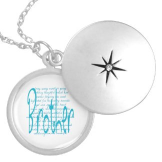 Loving Words for Brother Round Locket Necklace