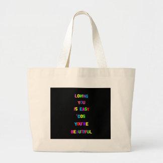 Loving you is easy... jumbo tote bag