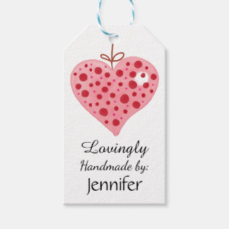 Lovingly, Handmade by: Customizable Gift Tags