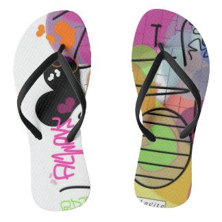 Lovito Adult, Slim Straps, Womens 5/6 - Mens 4/5 Flip Flops