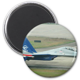 LOW AND FAST! RUSSIAN AIRSHOW 6 CM ROUND MAGNET