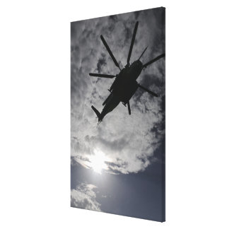 Low angle view of a CH-53E Canvas Print