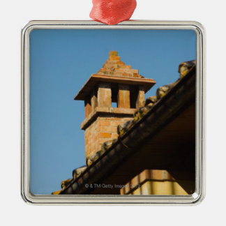 Low angle view of a chimney on a roof, San Christmas Ornament