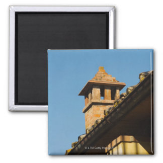 Low angle view of a chimney on a roof, San Magnet