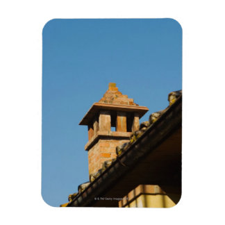 Low angle view of a chimney on a roof, San Rectangle Magnet