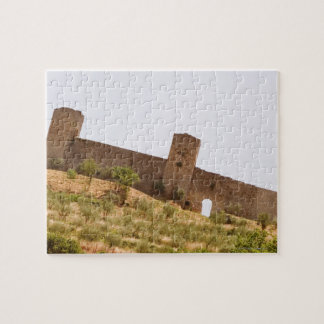 Low angle view of a fort, Monteriggioni, Siena Jigsaw Puzzle