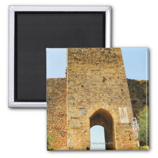 Low angle view of a fort, Porta Franca, Square Magnet
