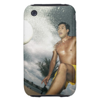 Low angle view of a man playing beach volley iPhone 3 tough covers