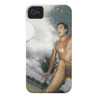 Low angle view of a man playing beach volley iPhone 4 Case-Mate cases