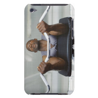 Low angle view of a mid adult man exercising in iPod Case-Mate case
