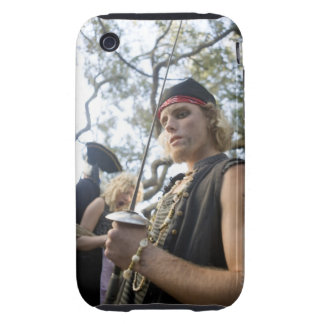 Low-angle view of a pirate holding a sword tough iPhone 3 covers