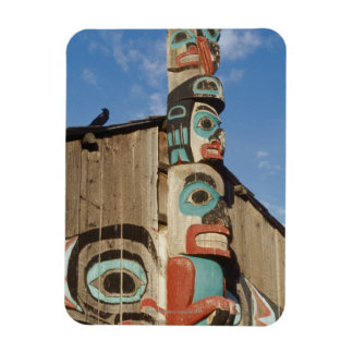 Low angle view of a Totem Pole, Haines, Alaska, Rectangular Photo Magnet