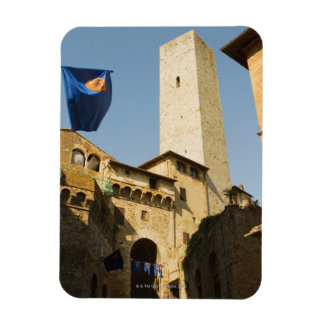 Low angle view of a tower, Torri Di San Vinyl Magnets