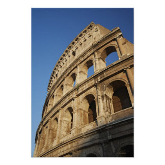 Low angle view of Colosseum Poster
