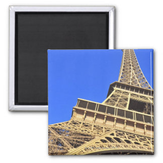 Low angle view of Eiffel Tower against blue sky 2 Square Magnet