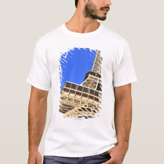 Low angle view of Eiffel Tower against blue sky 2 T-Shirt