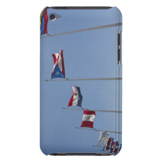 Low angle view of national flags, Miami, iPod Touch Case