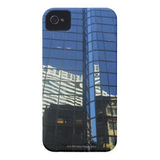 Low angle view of the reflection of buildings on iPhone 4 Case-Mate cases