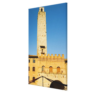 Low angle view of tower of a building, canvas print