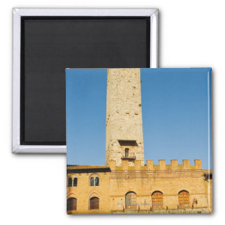 Low angle view of tower of a building, square magnet