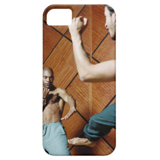 Low angle view of two young men practicing barely there iPhone 5 case