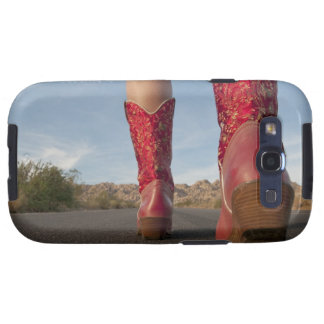 Low-angle view of woman wearing cowboy boots samsung galaxy SIII case