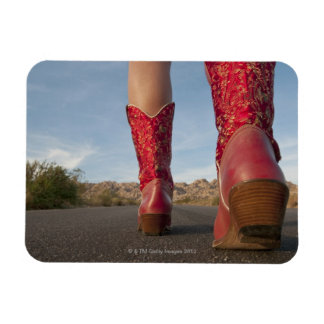 Low-angle view of woman wearing cowboy boots flexible magnet