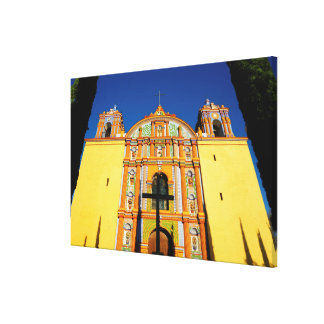 Low Angle View Of Yellow Ornate Church Canvas Print