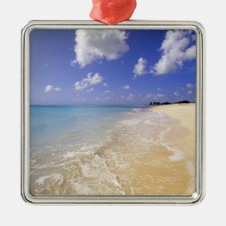 Low Bay Beach, Barbuda, Antigua Silver-Colored Square Decoration
