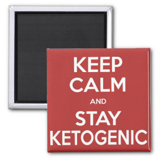 Low Carb Magnet: Keep Calm and Stay Ketogenic - Re Square Magnet