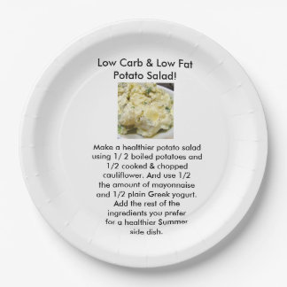 Low Carb Side Dish paper plates 9 Inch Paper Plate