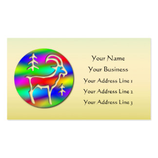 Low Cost Capricorn Rainbow Goat Zodiac Bookmark or Business Card Templates