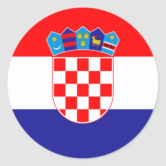 Low Cost! Croatian Flag Classic Round Sticker