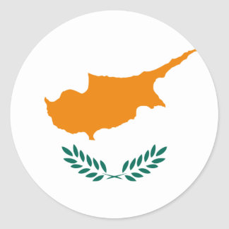 Low Cost! Cyprus Flag Round Sticker