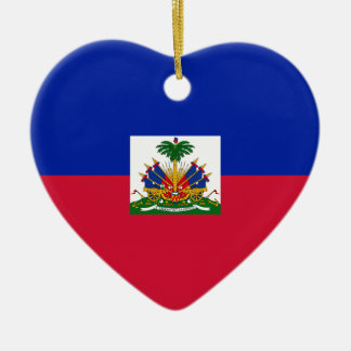 Low Cost! Haiti Flag Christmas Ornament