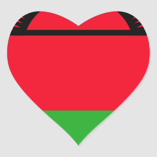 Low Cost! Malawi Flag Heart Sticker