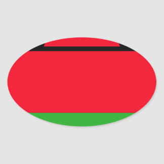 Low Cost! Malawi Flag Oval Sticker