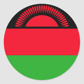 Low Cost! Malawi Flag Round Sticker
