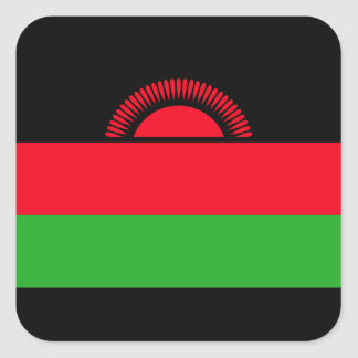 Low Cost! Malawi Flag Square Sticker